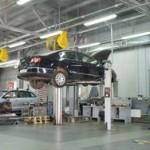 Autofficina riparazione sollevamento auto