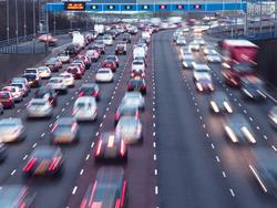 Traffico automobile autostrada